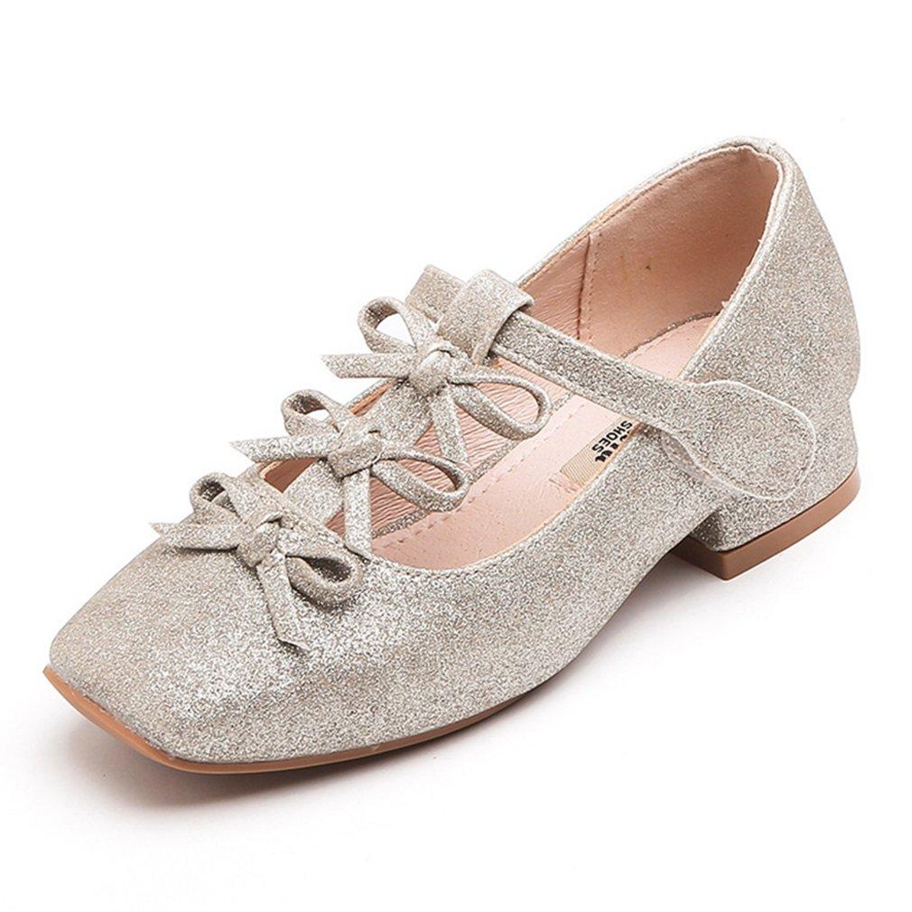 CYBLING Girl's Shimmer Ballet Flats Bridal Mary Janes Princess Dress Shoes (Toddler/Little Kid/Big Kid)