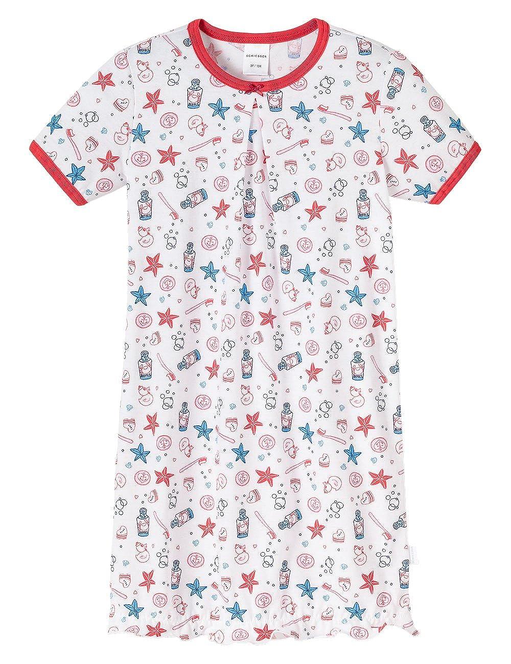 Schiesser Sleepshirt 1/2, Camicia da notte da bambine e ragazze Schiesser - Sleepshirt 1/2 bianco(weiß (weiss 100)) taglia produttore: 104 146161