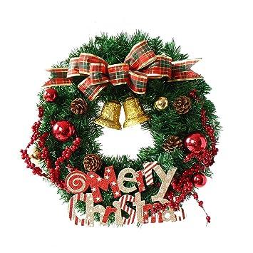 Freahap Corona De Navidad Para Puerta Navidad Decoraciones Guirnalda - Coronas-de-navidad-para-puertas