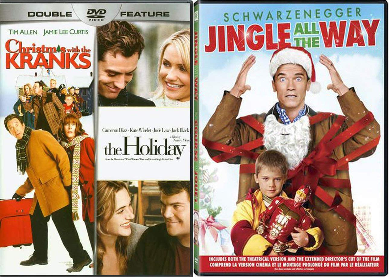 A Bag of Christmas 3-Movie Spirit DVD The Holiday / The Kranks + Jingle All The Way Fun Triple Feature Bundle Modern Family Classics