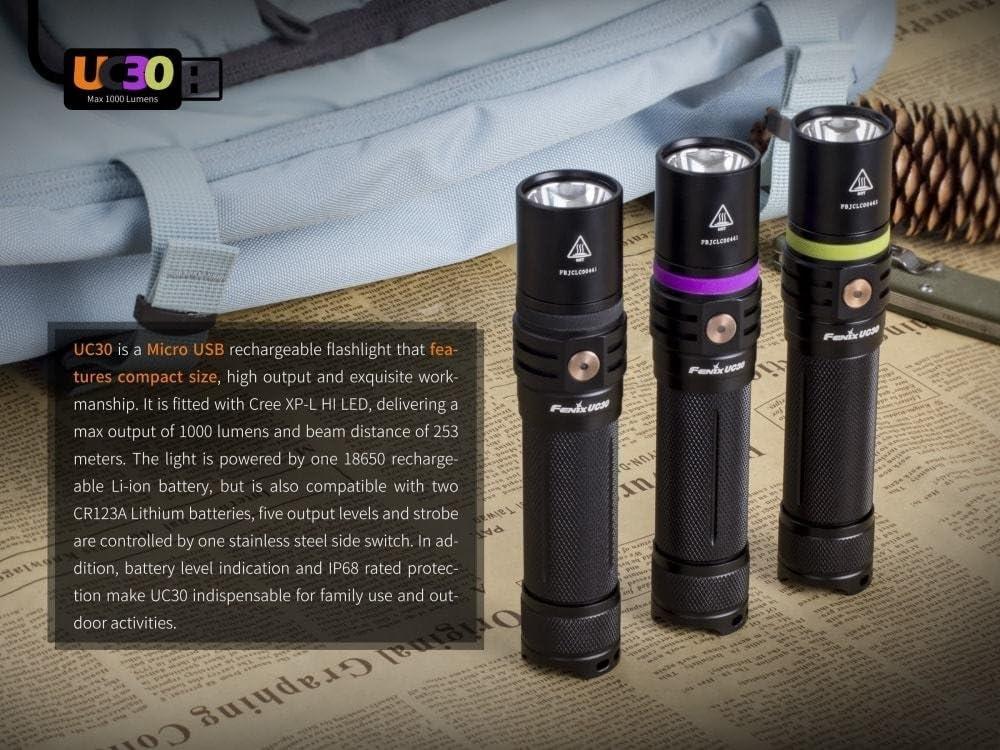 Fenix uc30 960 LM Batterie Fonct DEL Lampe de poche Security Outdoor police