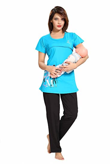 0d7fd2832261e Soulemo Womens Maternity Dress Feeding Nighty, Night Suits ...