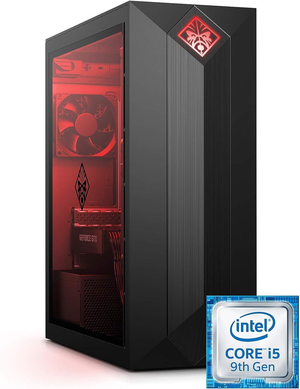 Omen by HP Obelisk Gaming Desktop Computer, Intel Core i5-9400F Processor, NVIDIA GeForce GTX 1660 6 GB, HyperX 8 GB RAM, 512 GB SSD, VR Ready, Windows 10 Home (875-0120, Black) (Renewed)