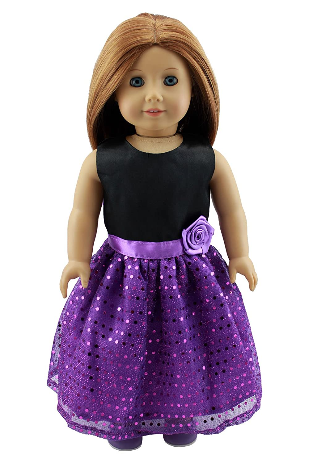 Christmas Gifts Doll Clothes Pretty Party Dress Fit 18 Inches American Girl Dolls