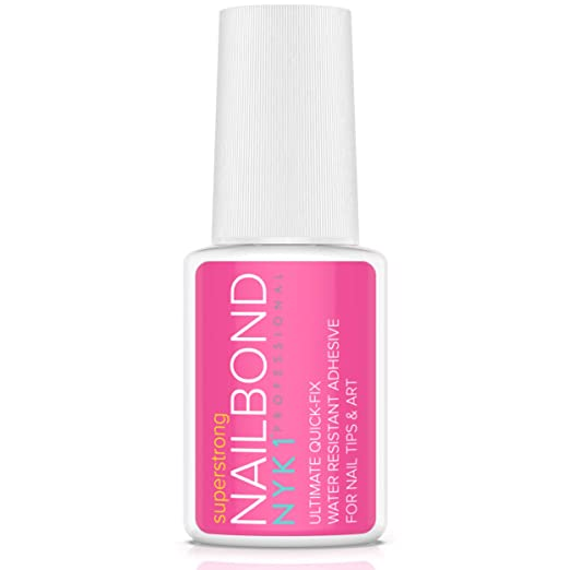 Super Strong Nail Glue for Acrylic Nails and Press on Nails - NYK1 Nail Bond Acrylic Nail Glue Adhesive, Perfect for False Acrylic Nail Art, Glitter, Diamantes, Gems, White Clear Tip Applications   Amazon