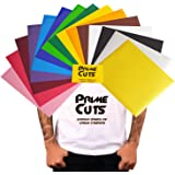 "PrimeCuts HTV - 15 Heat Transfer Vinyl Sheets (Color Pack Gold Silver) 12"" x 10"" for T Shirts, Hats, Clothing - Best Iron On HTV Vinyl for Silhouette Cameo, Cricut or Heat Press Machine Tool"