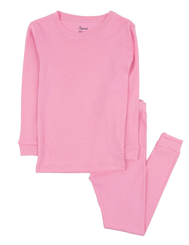 Leveret Kids Pajamas Boys /& Girls Solid Colors 2 Piece Pajama Set 100/% Cotton Size 2-14 Years