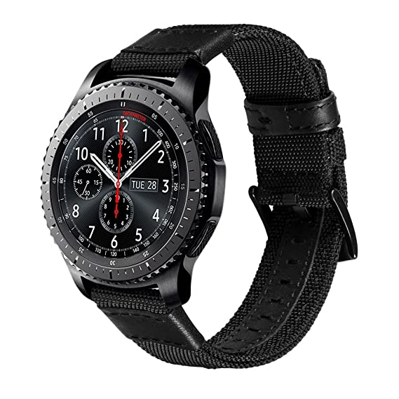 Gear S3 Frontier Band / S3 Classic Bands, V-Moro 22mm [Upgrade] with Quick Release Pins Premium Woven Nylon Replacement Strap Wristband for Samsung ...
