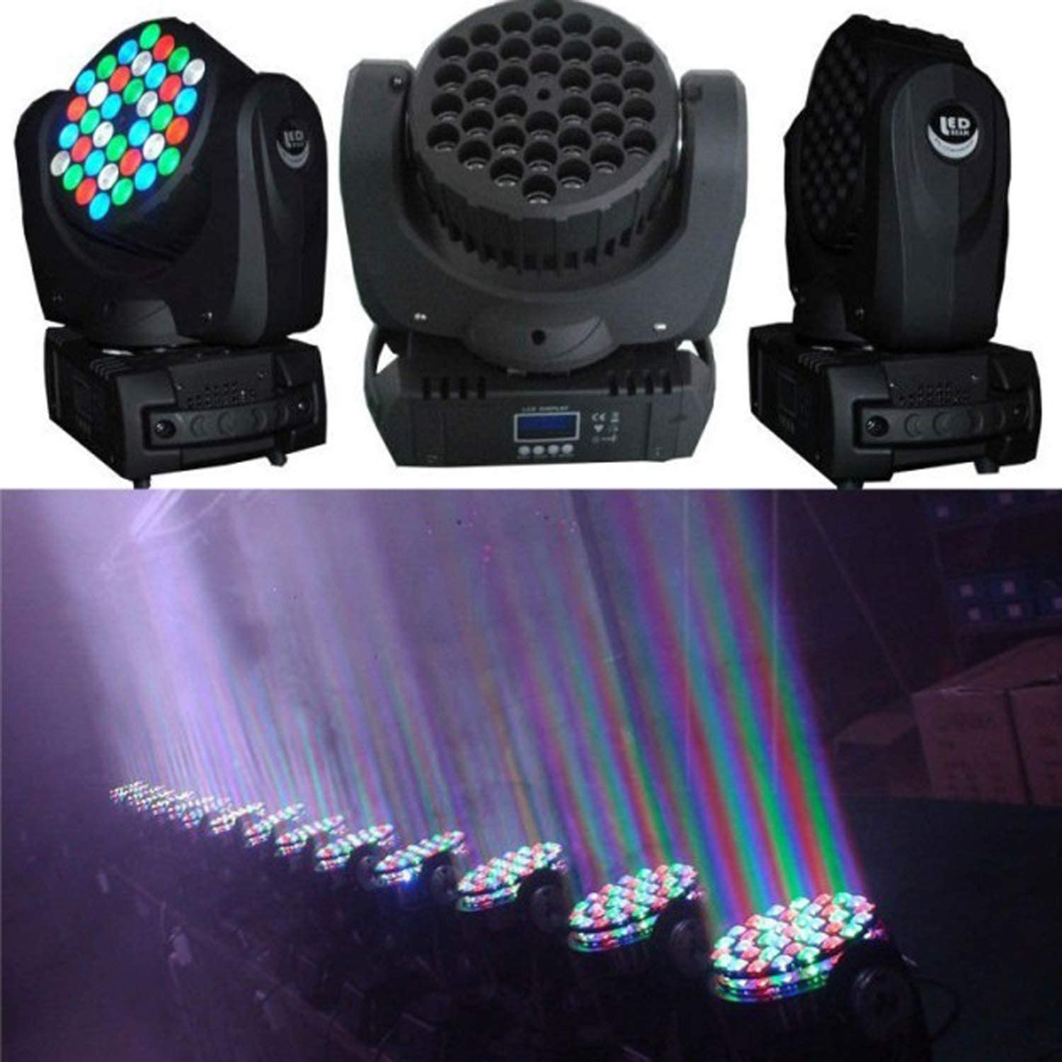 JUNMAN Sales of SALE items from New sales new works 36x3W RGBW Led Beam Moving Wash Disco Stage Light Head DJ