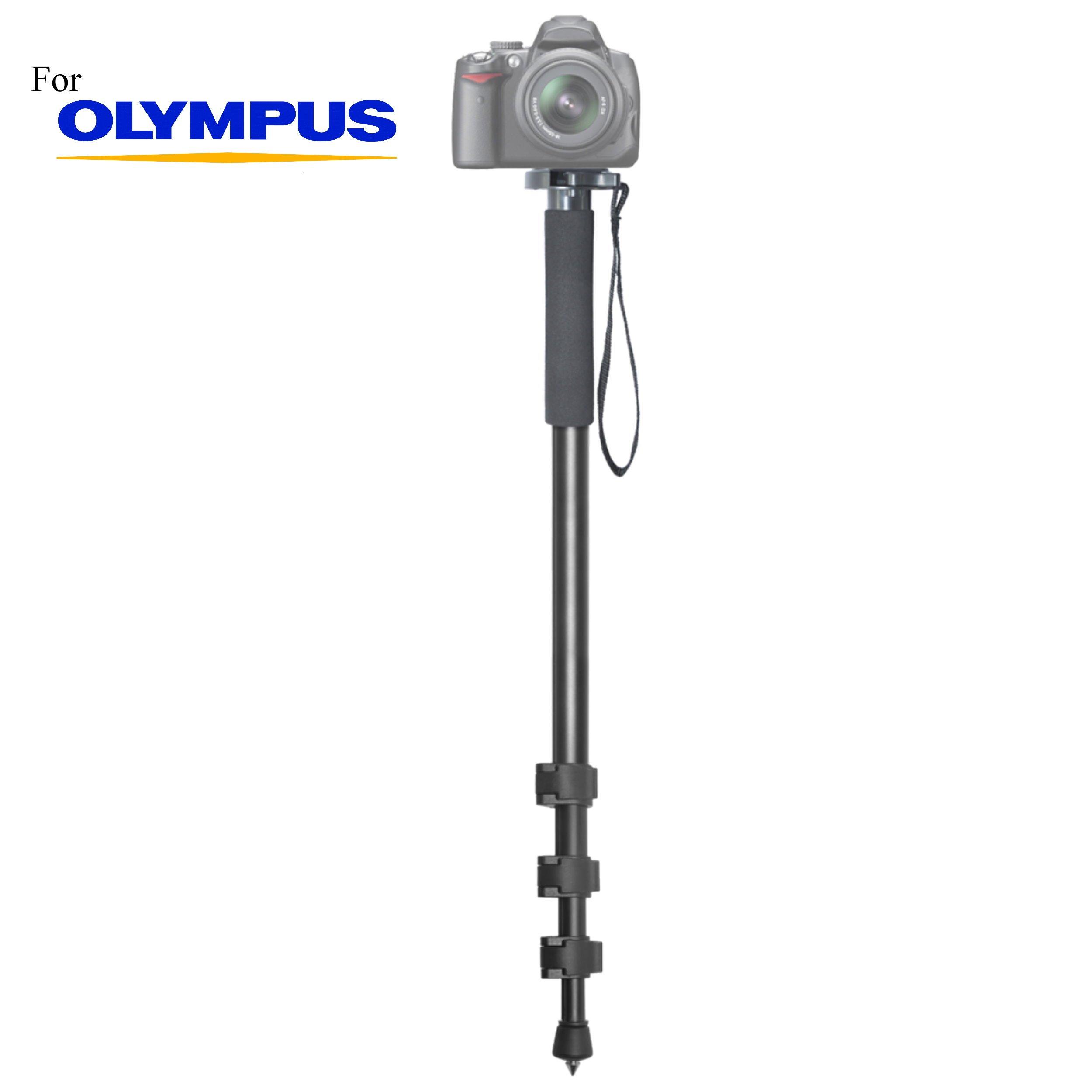 Versatile 72'' Monopod Camera Stick + Quick Release for Olympus SP-565UZ, SP-570 UZ, Stylus 1, Stylus 1s, XZ-1, XZ-2 iHS, E-400 Pro Digital Cameras: Collapsible Mono pod, Mono-pod