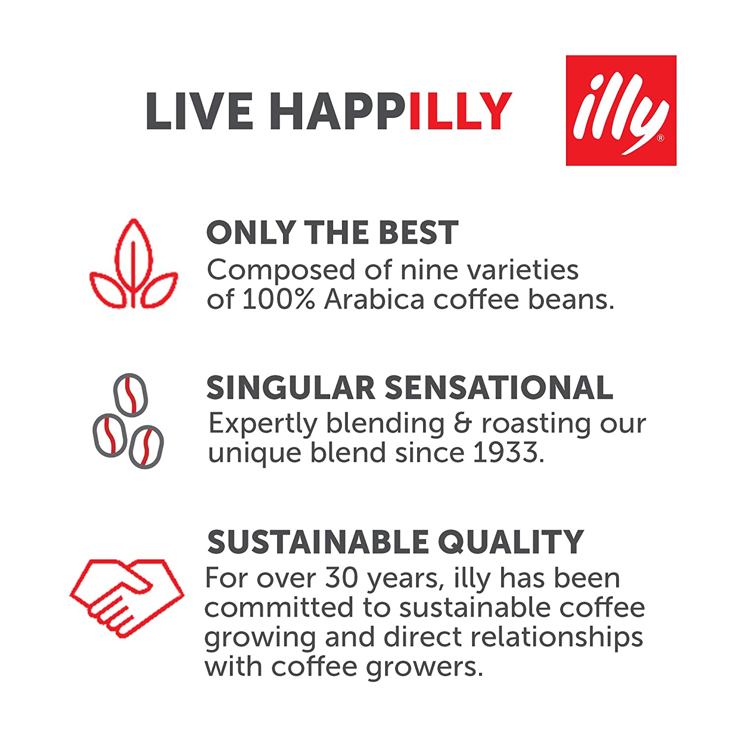 Illy Classico Espresso Ground Coffee Medium Roast Classic Roast With Notes Of Chocolate Caramel 100 Arabica Coffee All Natural No Preservatives 8 8 Ounce Grocery Gourmet Food