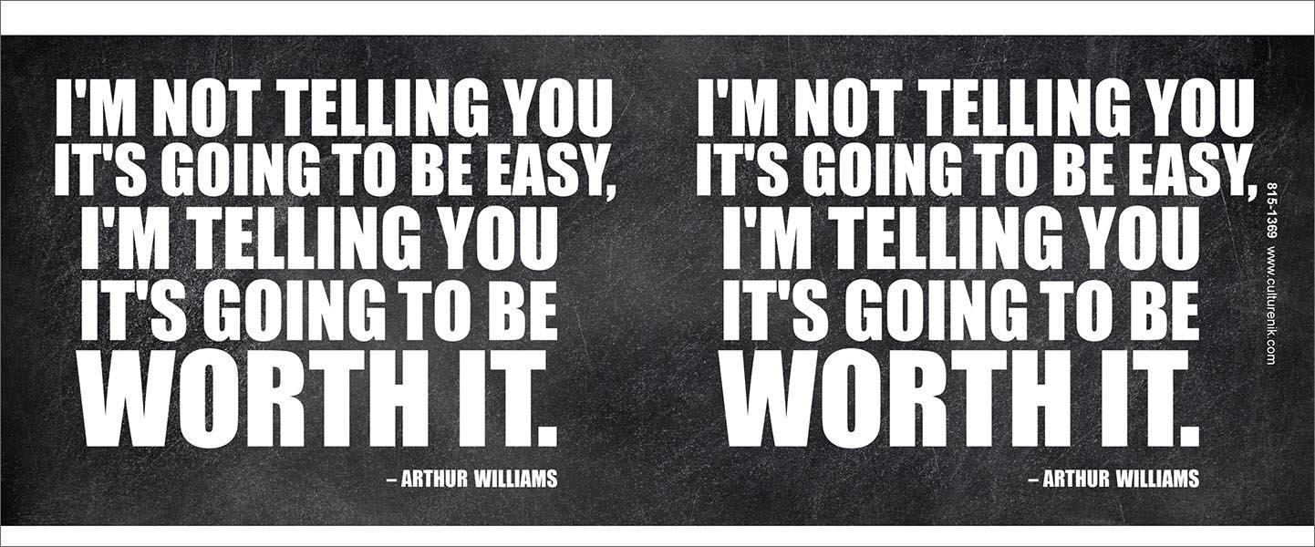Culturenik Arthur Williams Inspirational Motivational Businessman Executive Celebrity Quote Classroom Poster Print 8 X 10 Wood Desktop Frame ET323-F