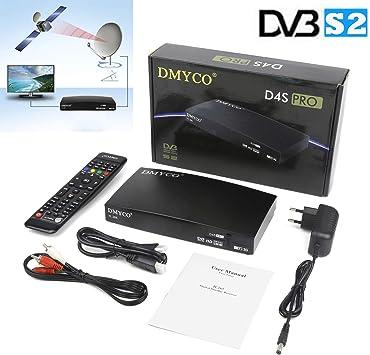 DMYCO Receptores de TV por Satélite DVB-S2 Decodificador Satelite TV Receptor Satélite Digital FTA Canales de Televisión Decoder Apoyo cccam Full HD 1080P H.265 MPEG-5 PVR Youtube (D4S Pro): Amazon.es: Electrónica