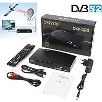 DMYCO Receptores de TV por Satélite DVB-S2 Decodificador Satelite TV Receptor Satélite Digital FTA Canales de Televisión Decoder Apoyo cccam Full HD 1080P H.265 MPEG-5 PVR Youtube (D4S Pro)