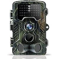 Odthelda Caméra de Chasse 12 MP 1080p Scoutisme Jeu Cam avec 42 pcs LED Infrarouge Nuit Version pour Surveillance Extérieure Sécurité à Domicile