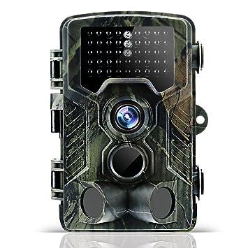 Odthelda Cámera de caza 12MP 1080P Cámera de Visión Nocturna Caza Cámera cámara impermeable para vigilancia