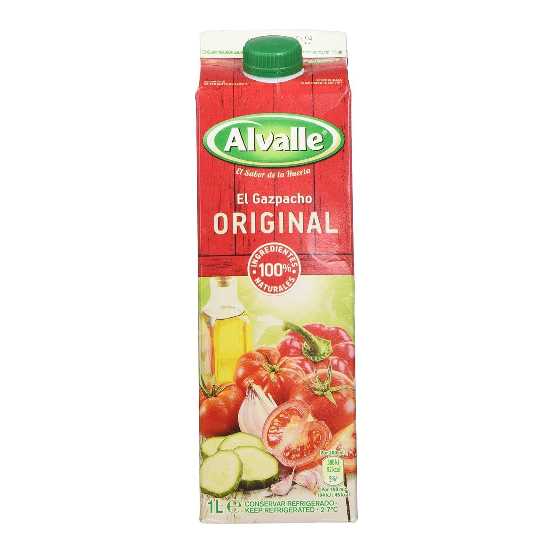 Alvalle - Gazpacho Original, 100% ingredientes naturales - 1l: Amazon.es: Alimentación y bebidas
