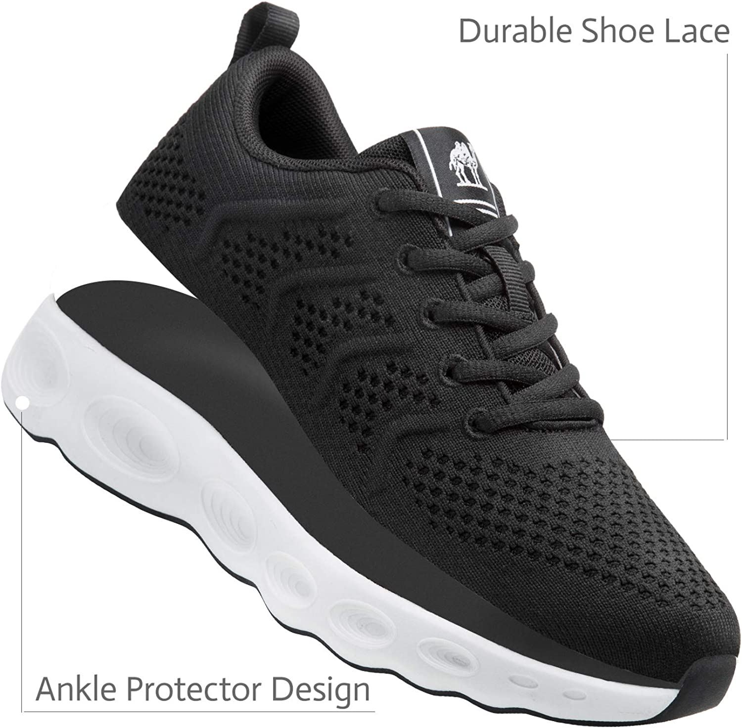 CAMEL CROWN Trail Running Shoes Men Super Lightweight Comfortable Tennis Shoes Fashion Mesh Breathable Casual Road Running