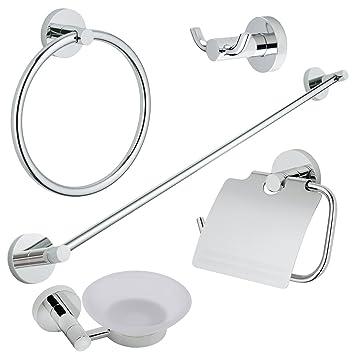 Amazon Com Plaza Piece Bath Accessories Hardware Set Hotel