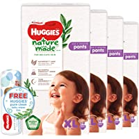 Huggies Platinum Naturemade XL Pants + Free Huggies Pure Clean Wipes, 114 count (Pack of 3)