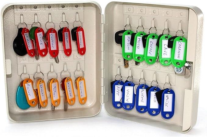 Armario para 20 llaves de colores - Llaveros incluidos - Cierre mediante código: Amazon.es: Hogar
