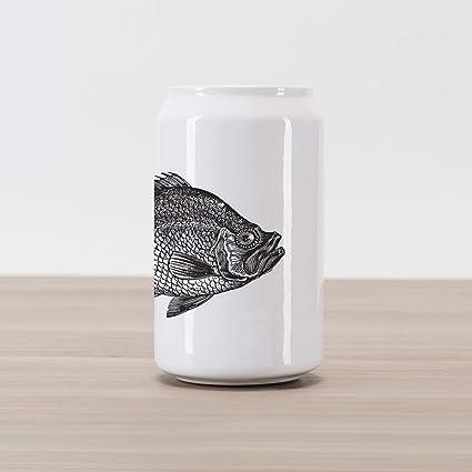 Design Vintage Bank.Amazon Com Ambesonne Fish Cola Can Shape Piggy Bank