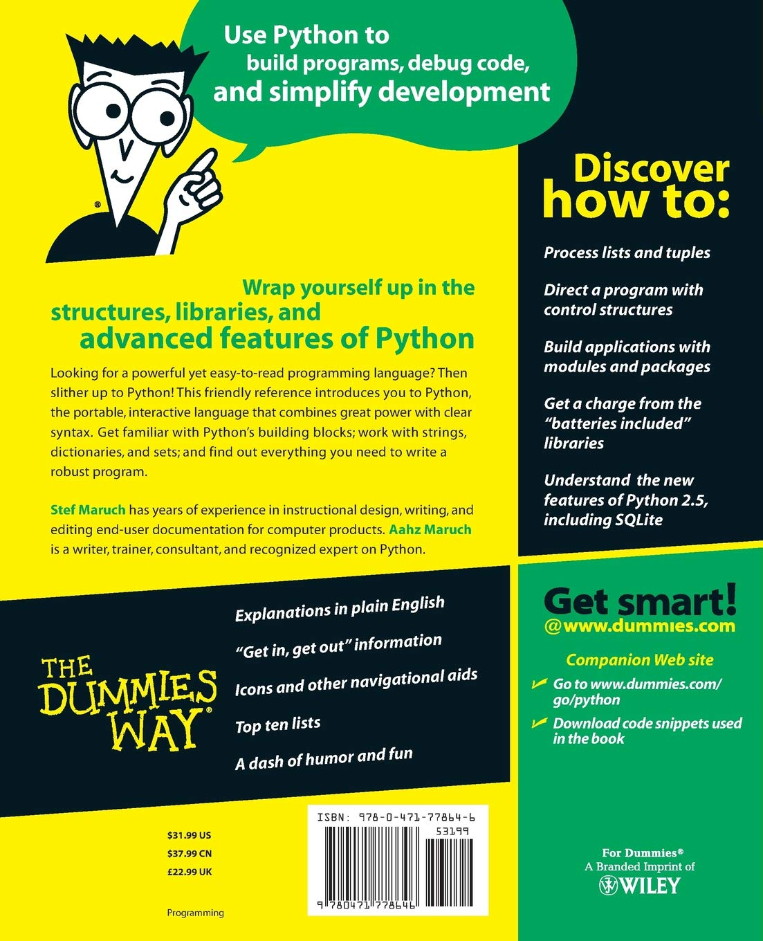 Python for Dummies: Amazon co uk: Stef Maruch: 8601400640210: Books