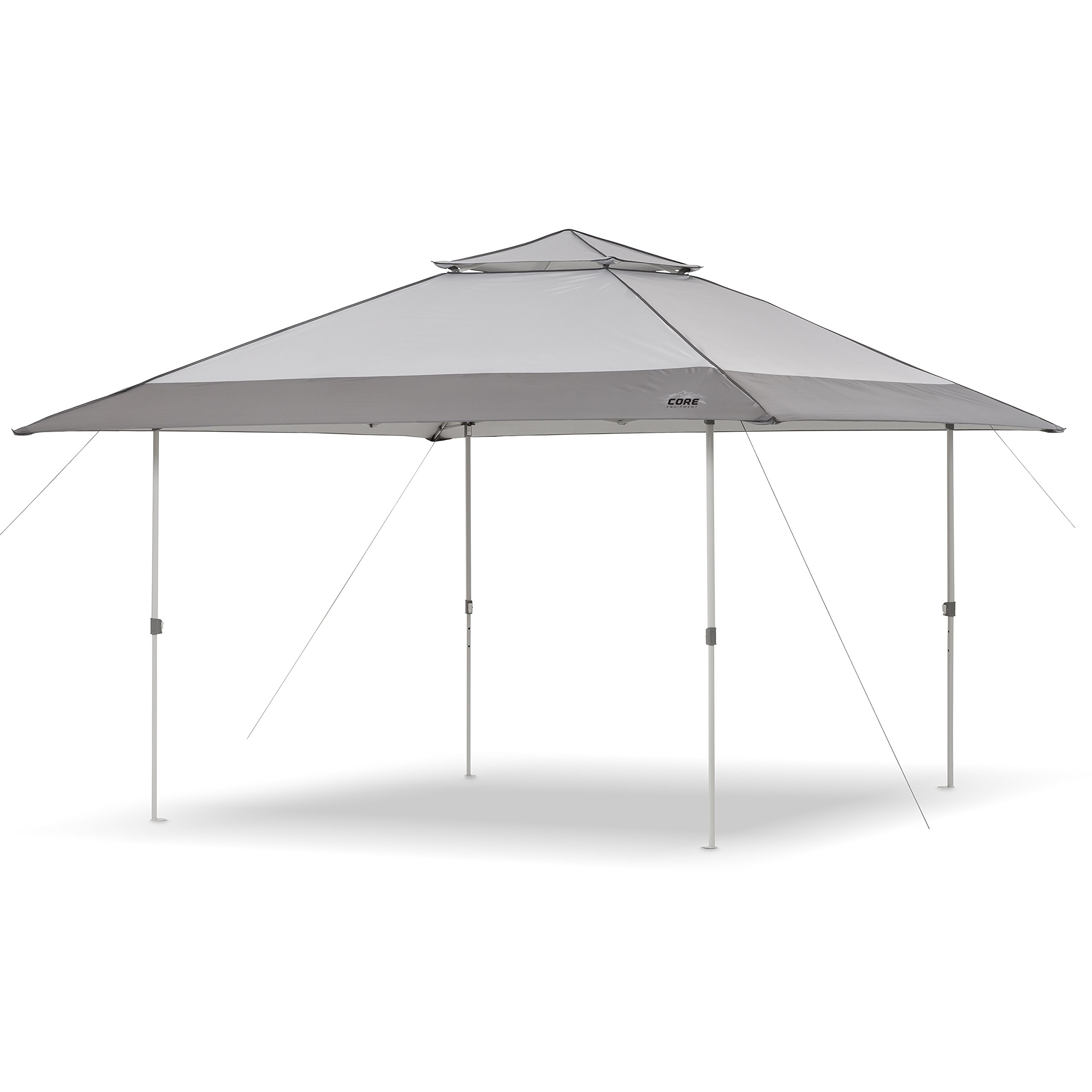 CORE 13' x 13' Instant Shelter Pop Up Canopy Gazebo Tent for Shade in Backyard, Party, Event with Wheeled Carry Bag, Gray by CORE (Image #1)