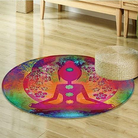 Amazon.com: Alfombra redonda para niños, estera de yoga ...