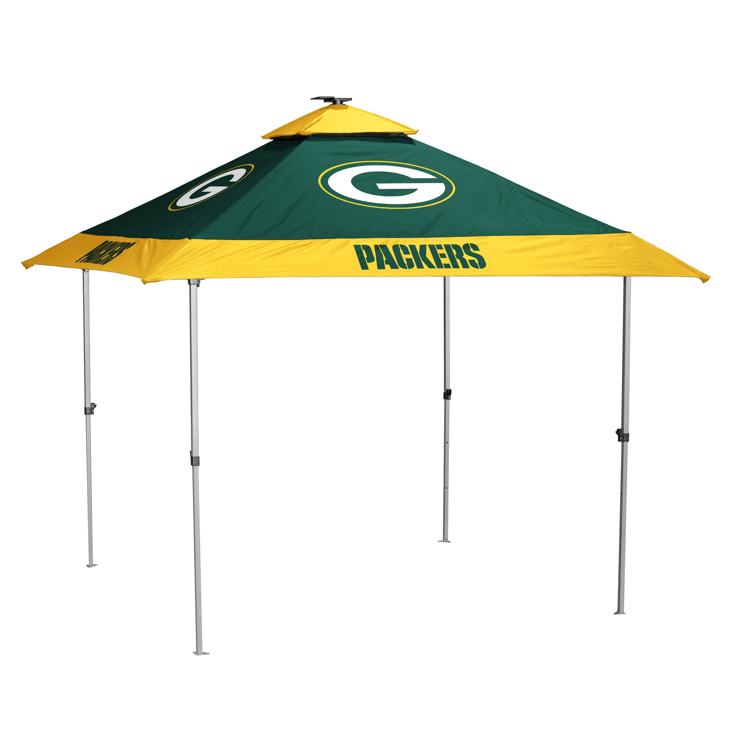Logo Brands NFL Green Bay Packers Pagoda Tent Pagoda Tent, Hunter, One Size