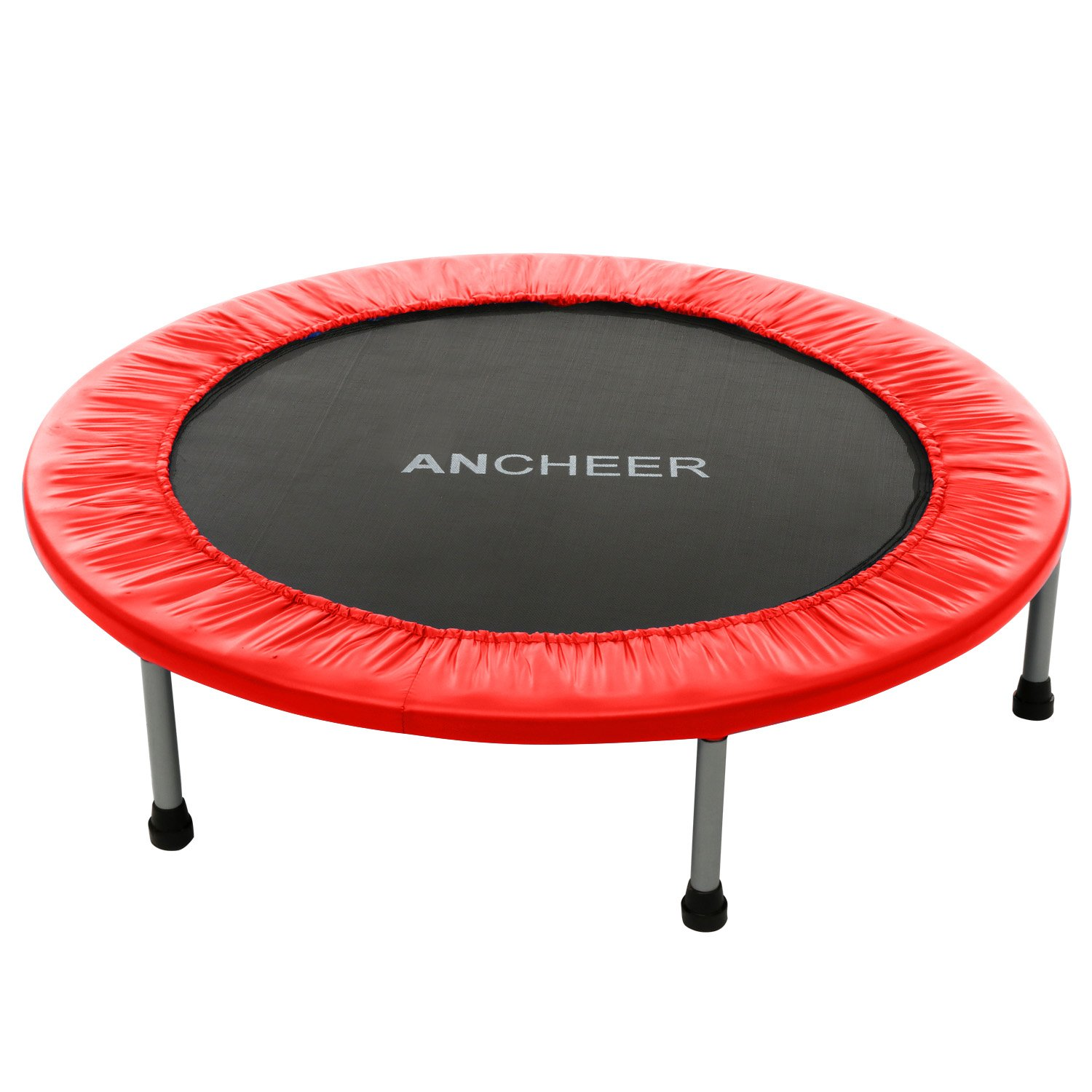 ANCHEER Max Load 220lbs Rebounder Trampoline with Safety Pad for Indoor Garden Workout Cardio Training (2 Sizes: 38 inch / 40 inch, Two Modes: Folding/Not Folding)