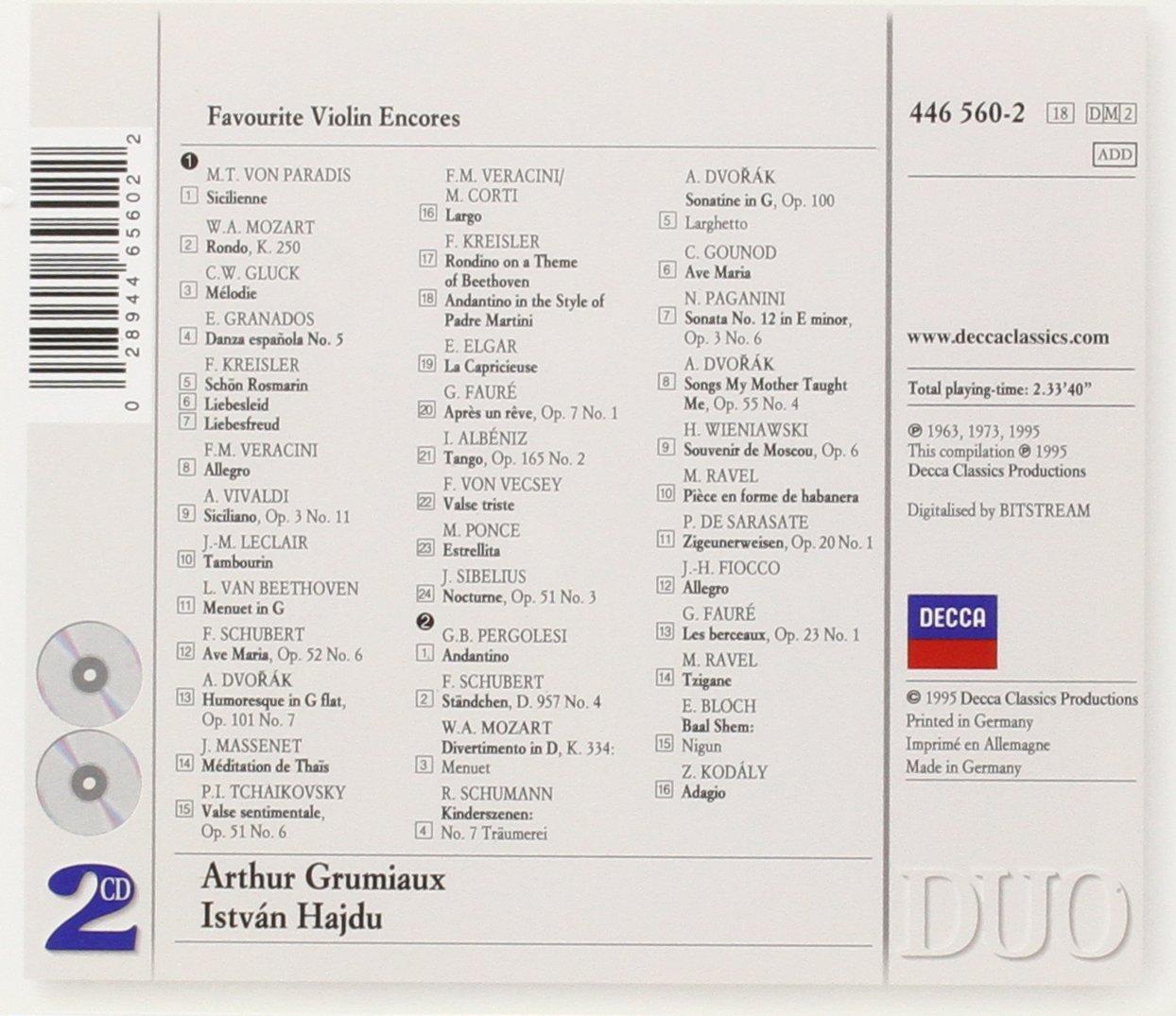 Favorite Violin Encores by Philips