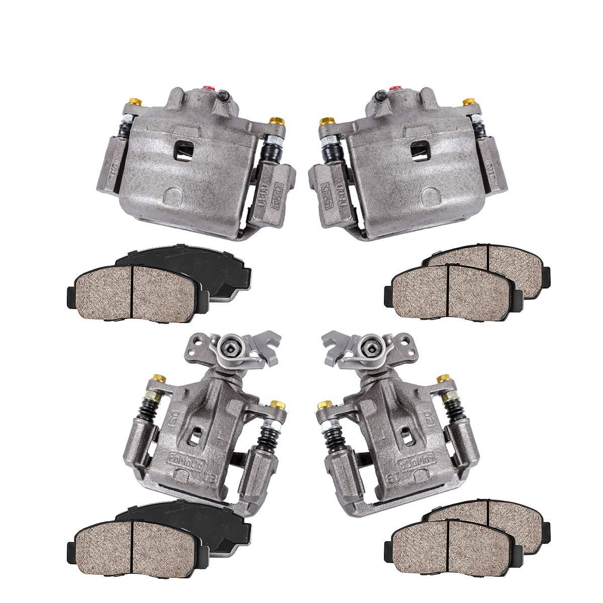 Premium Grade Loaded OE Calipers REAR Ceramic Brake Pads Kit CCK01332 FRONT 4