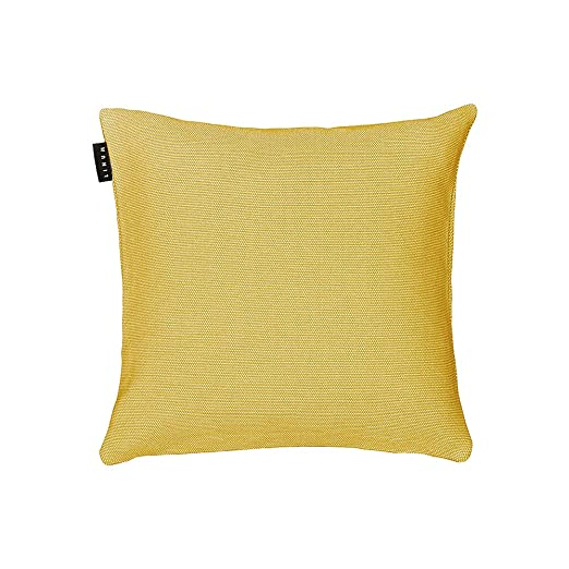 Funda de cojín de Lino, algodón, Color Amarillo Mostaza, 40 ...