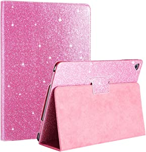 New iPad 5th 2017 / 6th 2018 gen 9.7 inch Glitter Case,FANSONG Bling Sparkle PU Leather Smart Cover Folio Stand Cases for Apple iPad 2018/2017/Air 1/Air 2/Pro 9.7