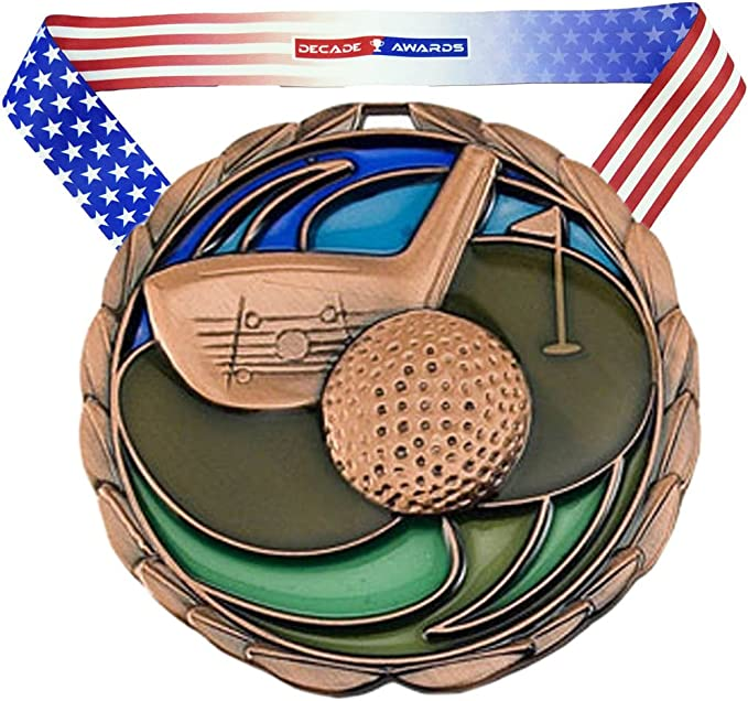 Amazon.com: Oro, Plata o bronce Golf Color Medalla – Come ...