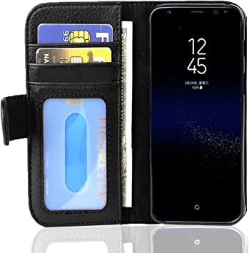 Cadorabo Funda Libro para Samsung Galaxy S8 Plus en Negro ÓXIDO ...