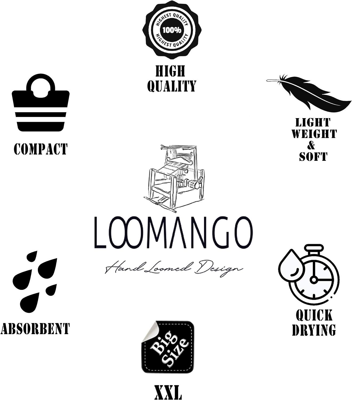 Set of 6 LOOMANGO Classic 100/% Cotton 70x39 Turkish Towel Set 02