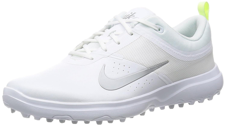 Nike Golf Ladies Akamai Shoes B0142H8RM4 7 D - Wide|White/Silver