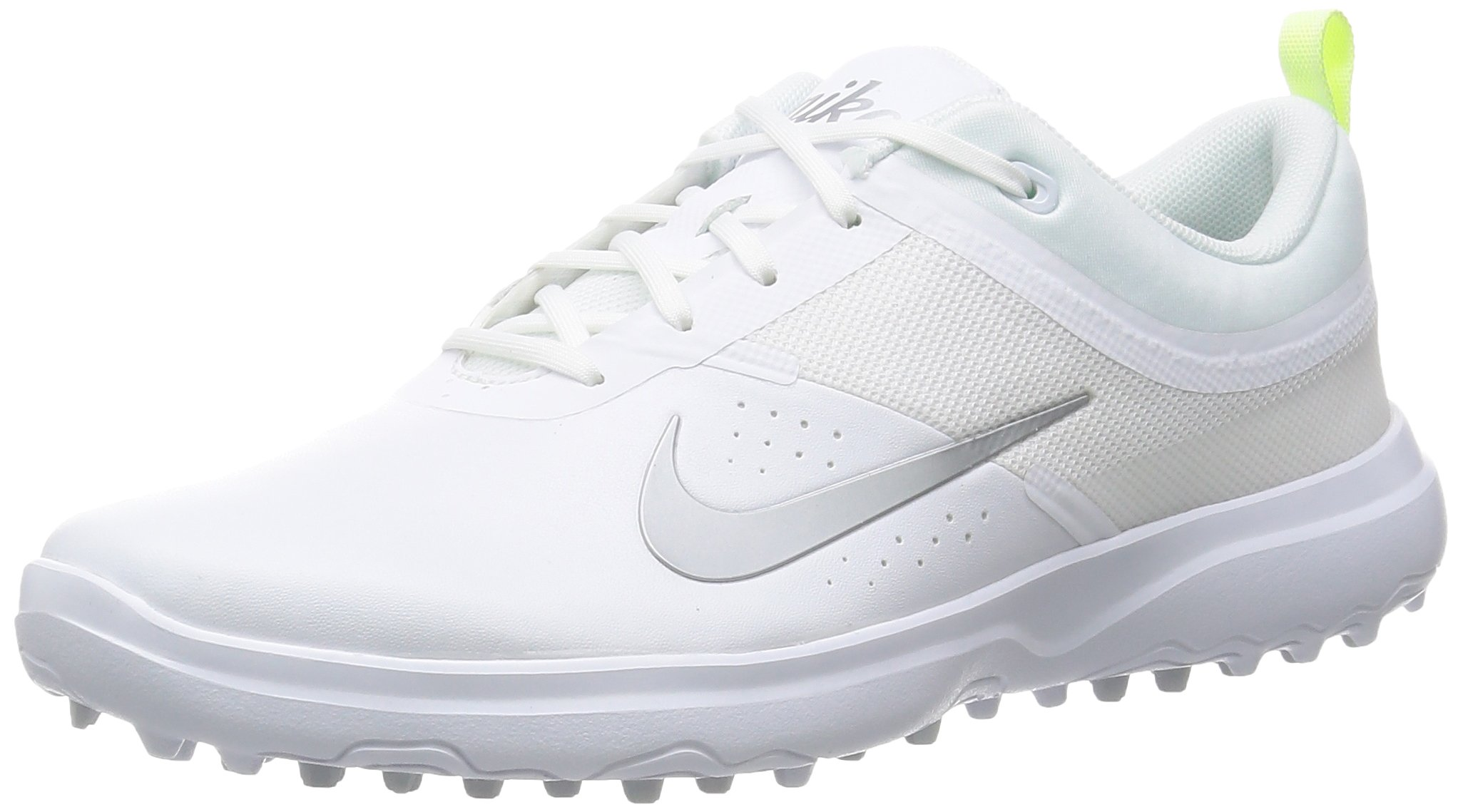 Nike AKAMAI Spikeless Golf Shoes 2017 Ladies(White/Silver, 7.0)