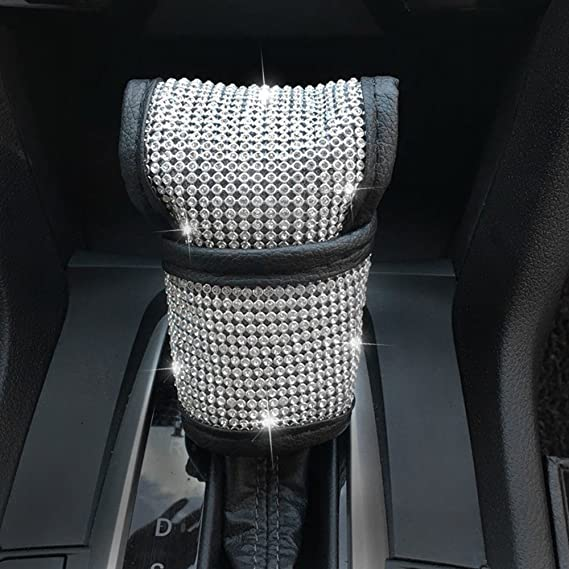 2pcs Durable Cushion Pad Strass Bling Auto Schultergurt Cover Zubehör