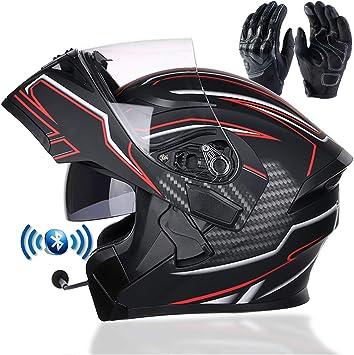 Braveking Motorradhelm Double Lens Flip Vollvisierhelm Mit Bluetooth Headset Unisex Elektroauto Schutzhelm Zu Öffnende Und Zu Schließende Entlüftungsöffnungen Dot Zertifiziert 1 Xl Küche Haushalt