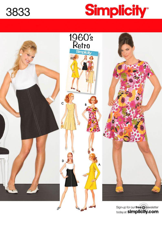 Simplicity 3833 - Patrones de costura para vestidos de mujer y niña ...