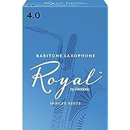 Royal by D'Addario Baritone Sax Reeds, Strength 4.0, 10-pack