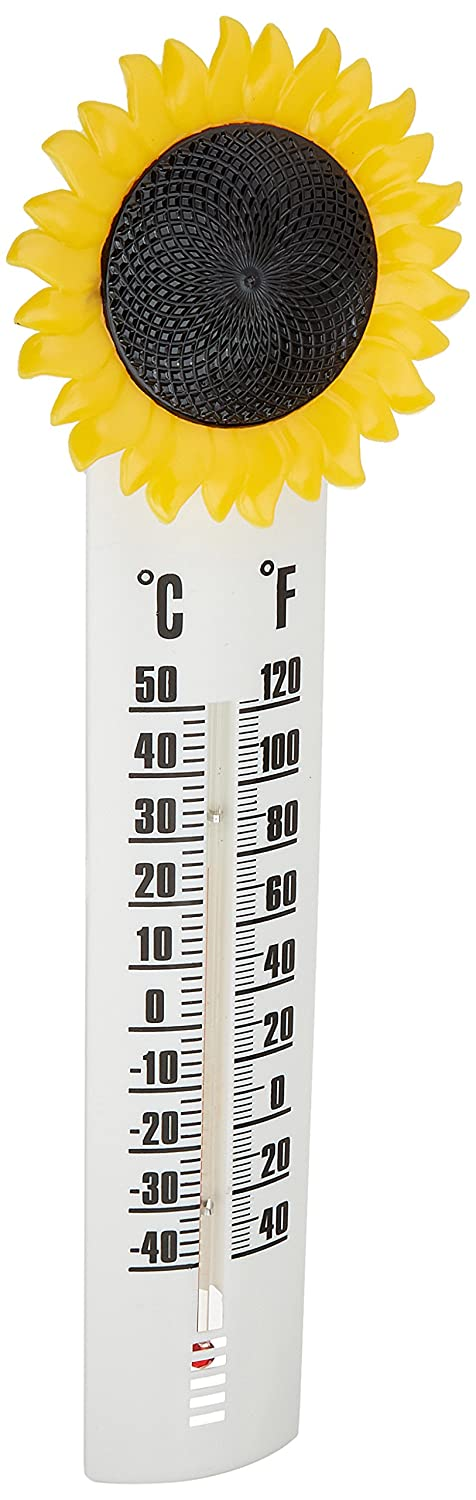Headwind 8400024 Decorative Thermometer Sunflower, 10-Inch