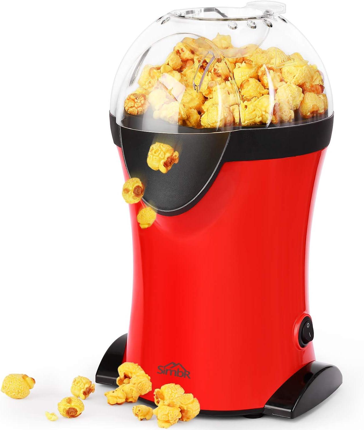 SIMBR Máquina Palomitas Vintage 1200W Palomitero con Velocidad Máxima de 3 Min Pop Corn Maker sin Grasa ni Aceite Libre de BPA: Amazon.es: Electrónica
