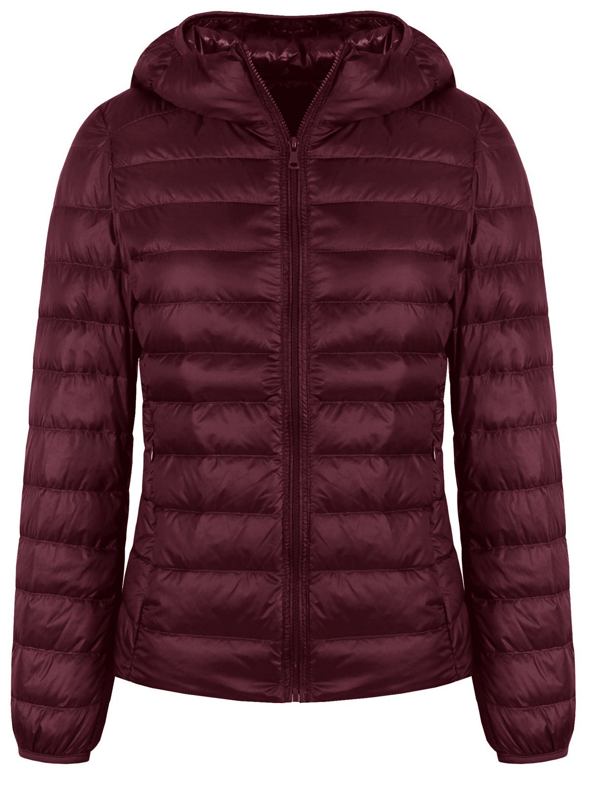 FADTOP Women's Hooded Packable Ultra Light Weight Short Down Jacket Down Coat by FADTOP (Image #1)