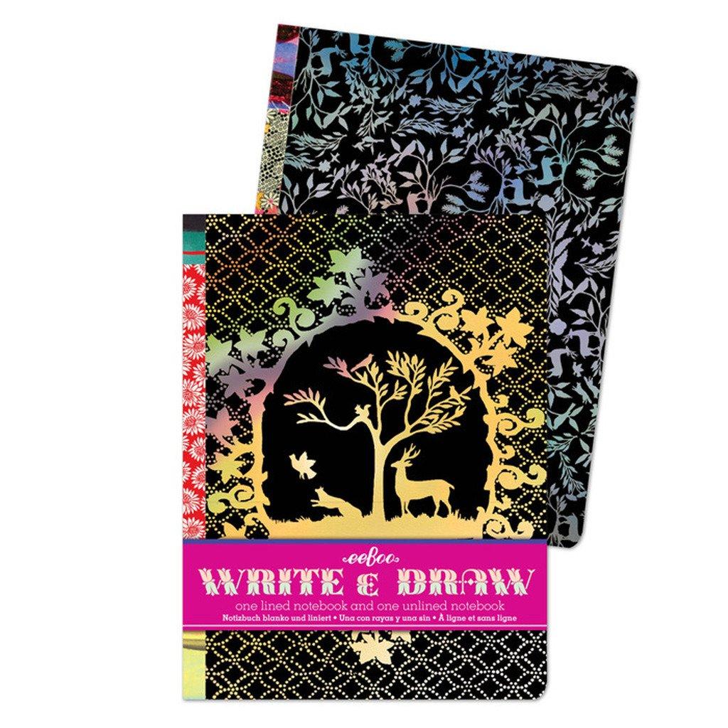 1 EA EB-NBBUF eeBoo Butterflies /& Flowers Write /& Draw Set