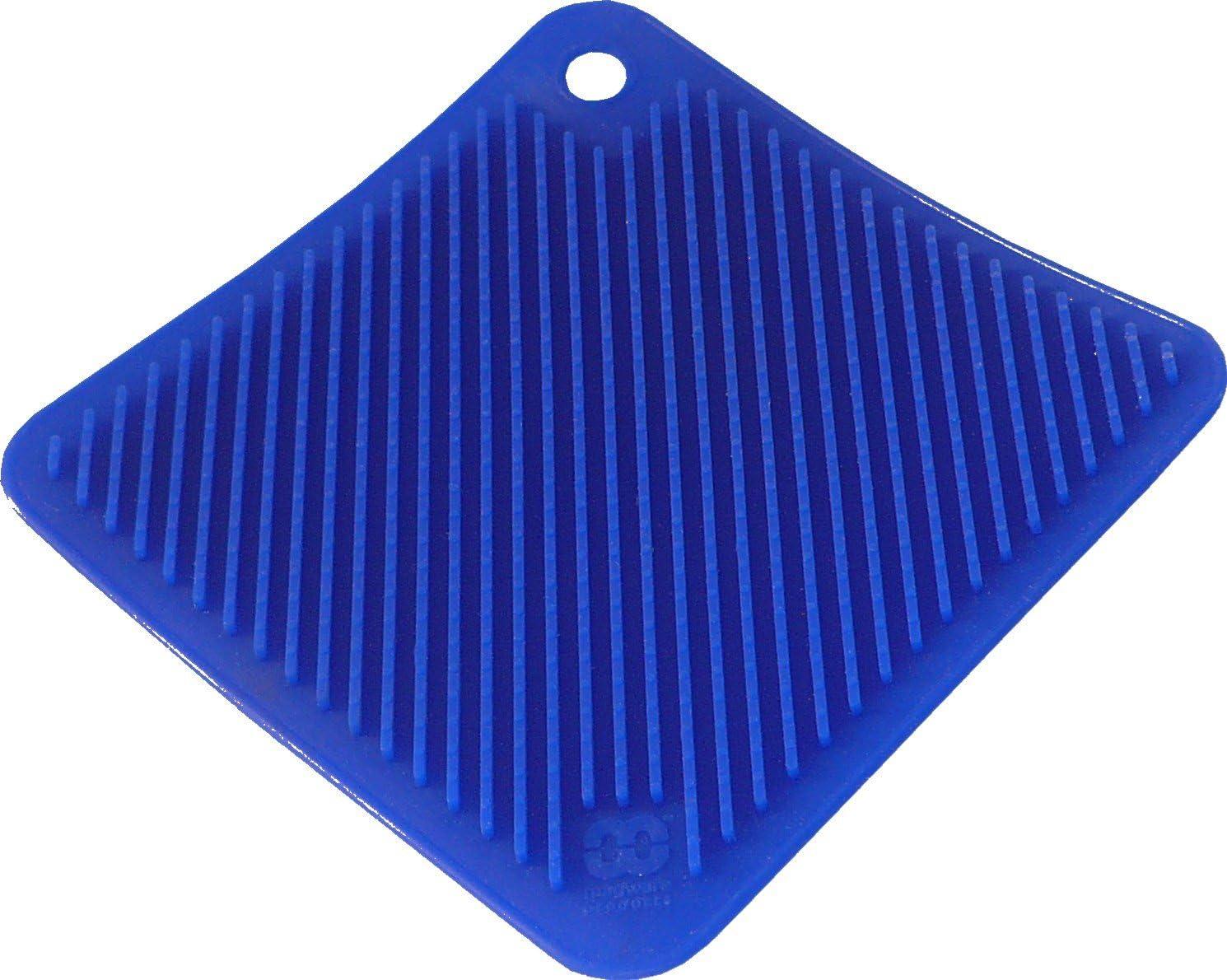So-Cool Silicone Pot Holder/Trivet, Dark Blue