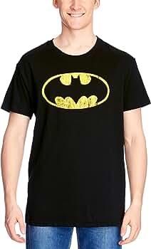 Batman – Camiseta Distressed Logo Shield Vintage Style en tamaño S: Amazon.es: Deportes y aire libre